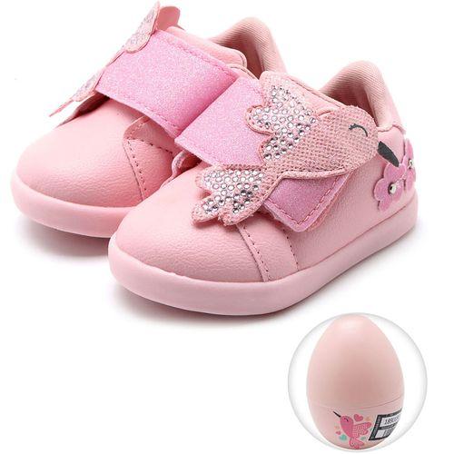 Tênis para Bebês - Pom Pom - Rosa Bale - Pampili