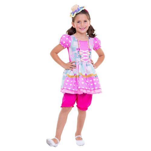 Fantasia Infantil - Vestido Rosa - Festa Junina - Regina Festas