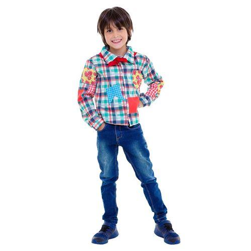 Fantasia Infantil - Camisa Xadrez Verde - Festa Junina - Regina Festas