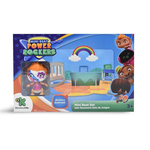 Playset 3D - Mini Beat Power Rockers - Wat - Multikids