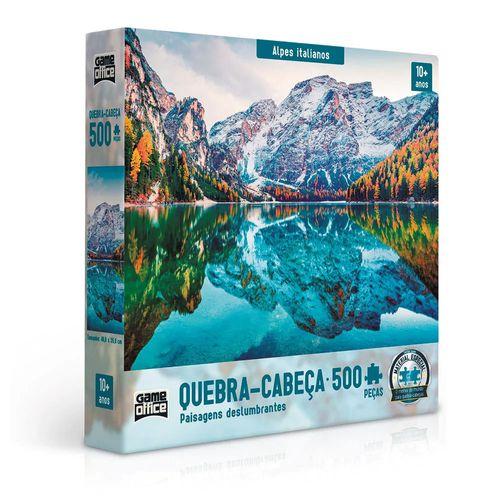 Quebra-Cabeça - 500 Peças - Paisagens Deslumbrantes - Alpes Italianos - Game office - Toyster