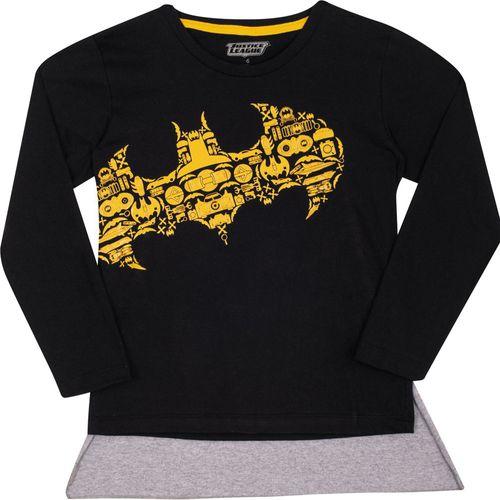 Camiseta Manga Curta - Meia Malha - Estampa Gel - DC Comics - Batman - 100% Algodão - Preto - Trenzinho