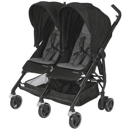 Carrinho de Passeio para Gêmeos - Dana For2 - Nomad Black - Maxi-Cosi