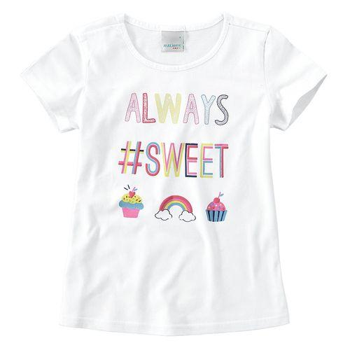 Camisa Manga Curta - Estampa Frases Rainbow - 100% Algodão - Branco - Malwee