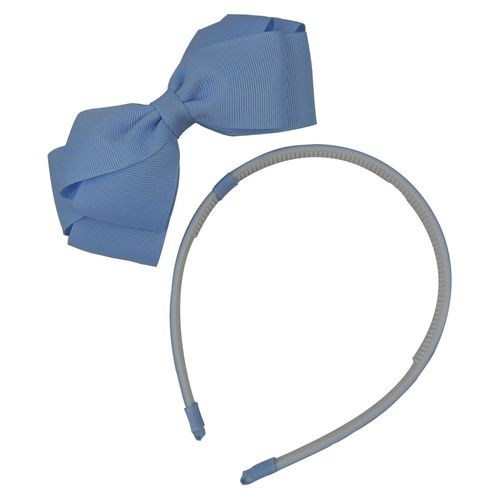 Tiara Infantil - Paty - Com Laço Removível - Azul Bebê - Lallita