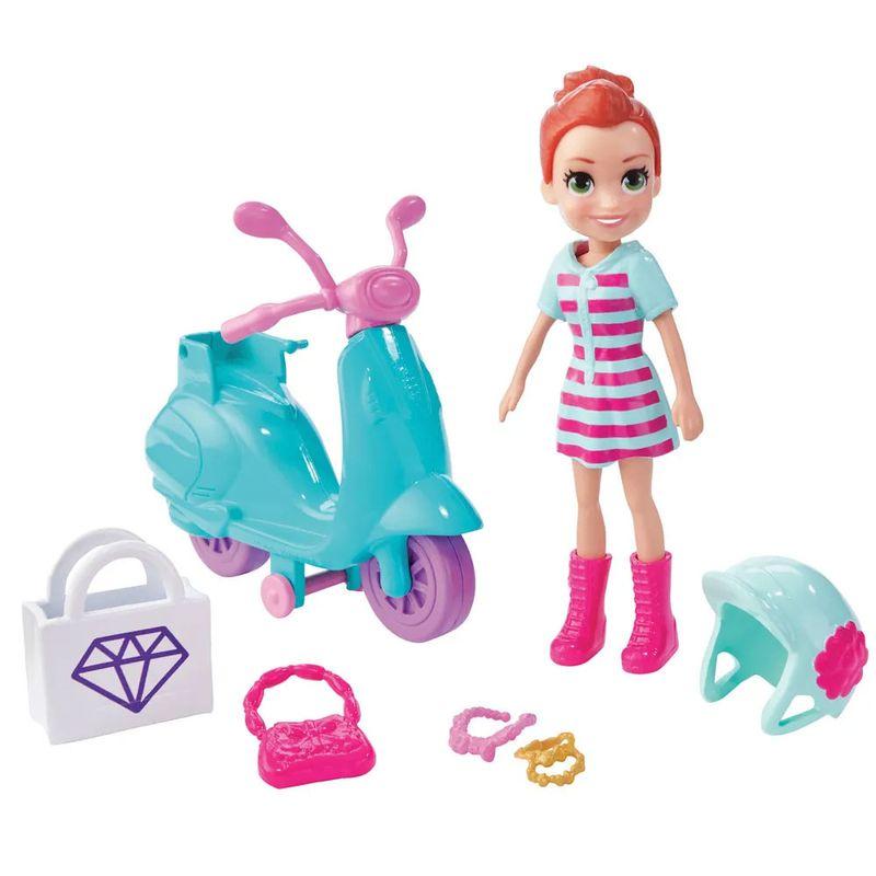 Mini-Boneca-e-Veiculo---Polly-Pocket---Aventura-Sobre-Rodas---Motocicleta---Mattel