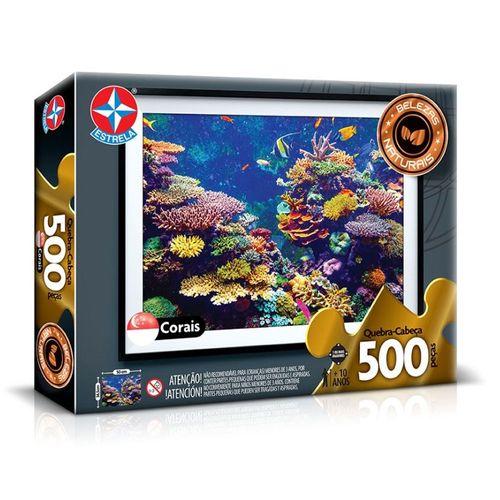 Quebra-Cabeça - 500 Peças - Corais - Estrela