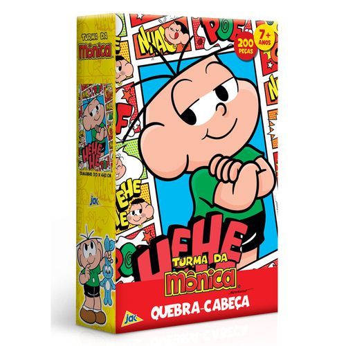 Quebra-Cabeça - 200 Peças - Turma da Mônica - Cebolinha Quadrinhos - Toyster