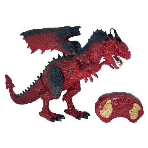 Figura Eletrônica - Lendários - Dragão Vermelho - Dragão de Controle Remoto - Candide