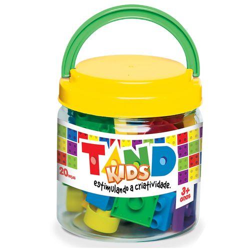 Blocos de Montar - Tand Kids - 20 Peças - Amarelo - Toyster