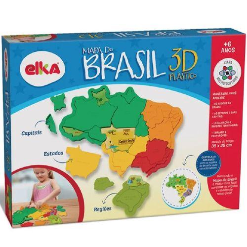 Quebra-Cabeça 3D - Mapa do Brasil - Elka
