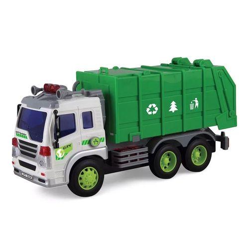 Veículo com Som e Luz - Caminhão de Lixo - Shiny Toys