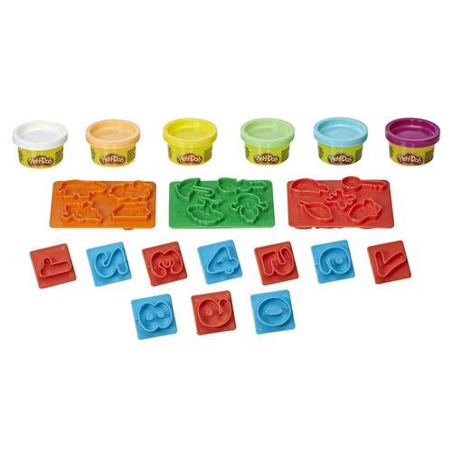 Conjunto de Massinhas - Play-Doh - Moldes de Números - Hasbro