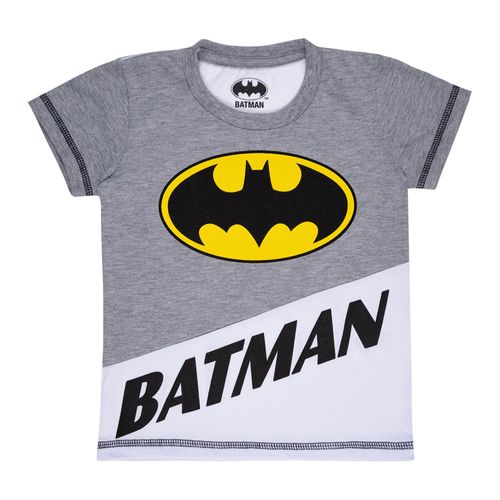 Camiseta Manga Curta - DC Comics - Batman - 100% Algodão - Mescla - Minimi