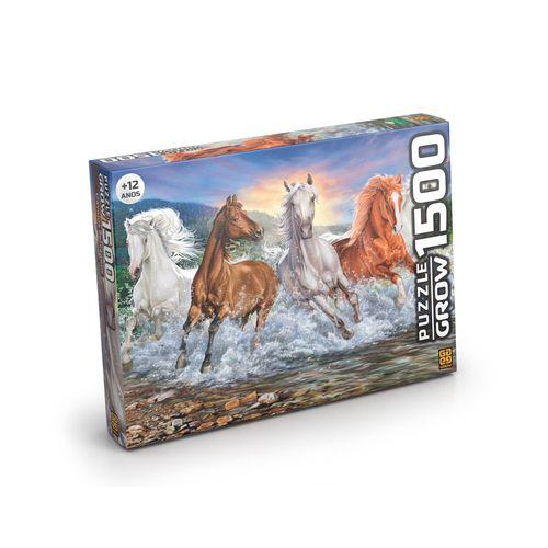 Quebra-Cabeça - 1500 Peças - Cavalos Selvagens - Grow