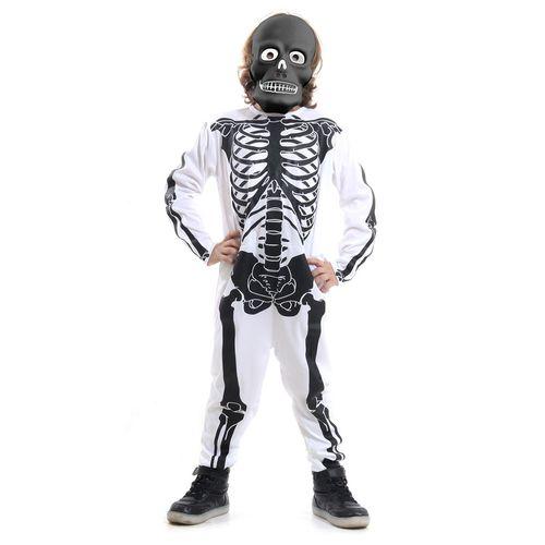 Fantasia de Halloween - Esqueleto - Branco e Preto - Sulamericana