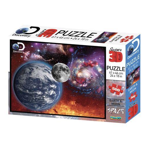 Quebra-Cabeça 3D - 500 Peças - Universo - Multikids