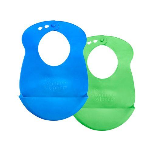 Conjunto de Babadores - Roll'n Go - 2 Peças - Azul - Tommee Tippee