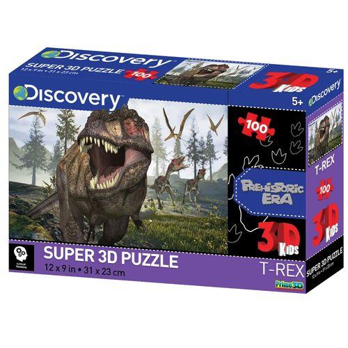 Quebra-Cabeça 3D - 100 Peças - Dino - Multikids