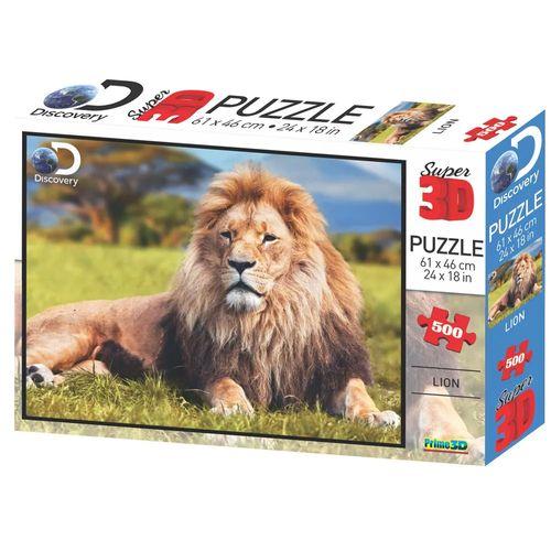 Quebra-Cabeça 3D - 500 Peças - Leão - Multikids