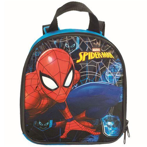 Lancheira com Alça - 21x19 Cm - Disney - Marvel - Spider-Man - Haste - Xeryus