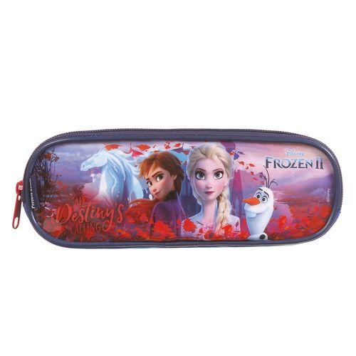 Estojo Escolar Duplo - Disney - Frozen 2 - Azul - Dermiwil