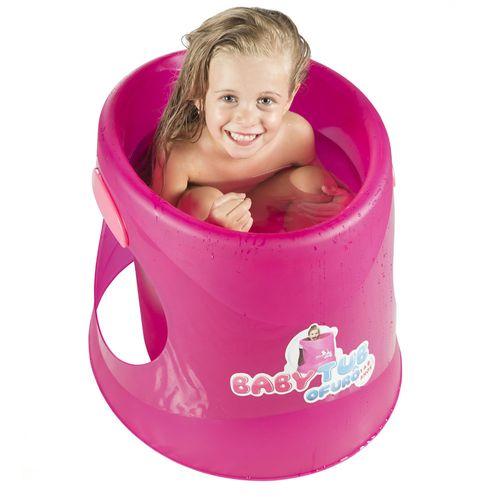 Banheira Babytub Ofurô Cristal - 1 a 6 Anos - Fluor Pink - Baby Tub