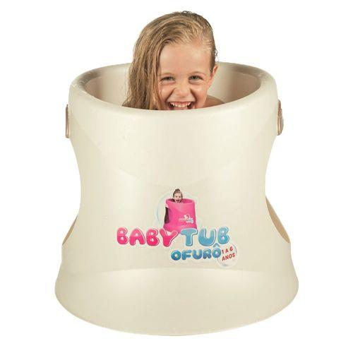 Banheira Babytub Ofurô - 1 a 6 Anos - Pérola - Baby Tub