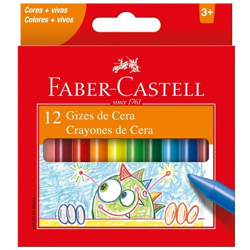 Giz de Cera - 12 Cores - Faber-Castell