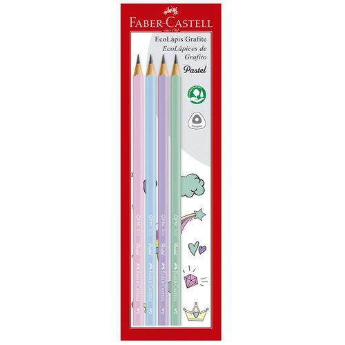 Lápis Grafite - EcoLápis - 4 Unidades - Tons Pastéis - Faber-Castell