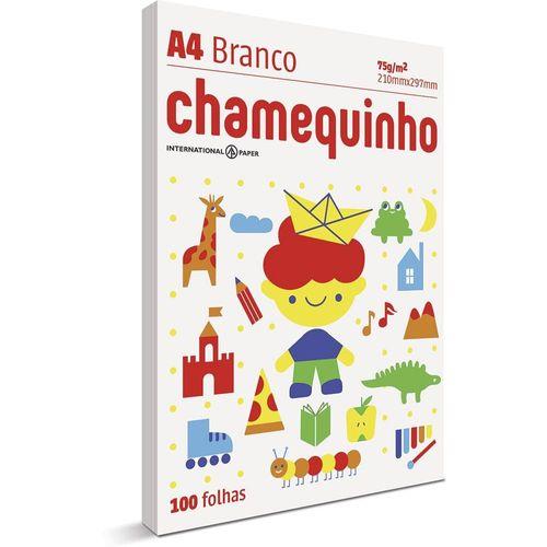 Papel Sulfite - A4 - Branco - Pacote 100 Folhas - Chamequinho