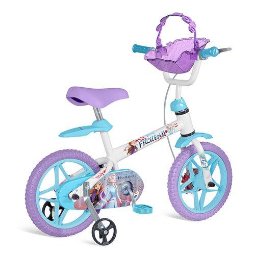 Bicicleta Aro 12 - Disney - Frozen 2 - Branco, Azul e Roxo - Bandeirante