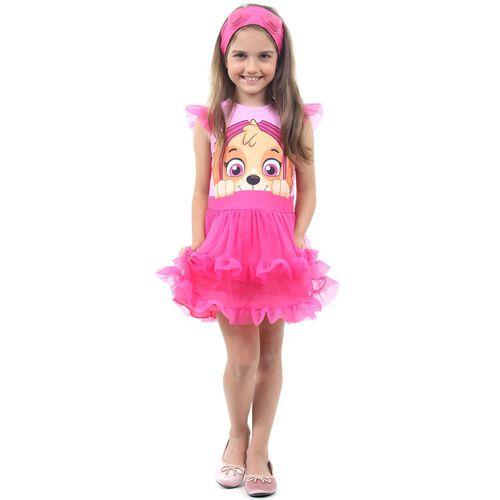 Fantasia Infantil - Patrulha Canina - Sky - Vestido Luxo - Sulamericana