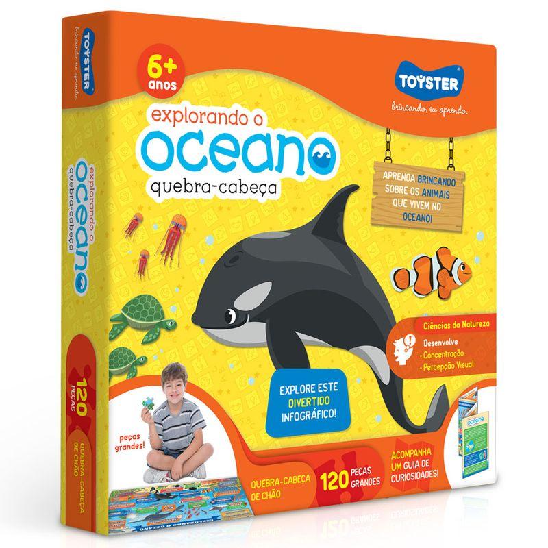Quebra-Cabeca-Grande---120-Pecas---Explorando-o-Oceano---Toyster