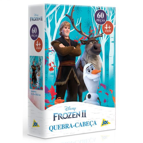 Quebra-Cabeça - 60 Peças - Disney - Frozen II - Kristoff, Sven e Olaf - Toyster