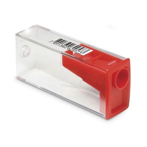 Apontador com Depósito - Vermelho - Faber-Castell