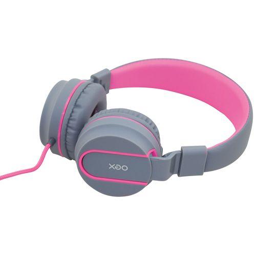 Fone de Ouvido - Headset Neon - HS106 - Cinza e Rosa - OEX