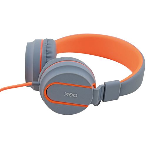 Fone de Ouvido - Headset Neon - HS106 - Cinza e Laranja - OEX