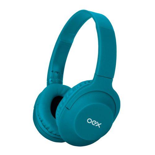 Fone de Ouvido - Headset Flow - Bluetooth - HS307 - Turquesa - OEX