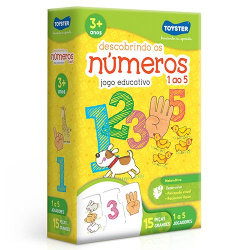 Conjunto de Quebra-Cabeças Educativos - Descobrindo os Números - Toyster