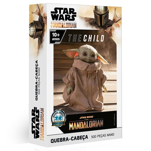 Quebra-Cabeça - 500 Peças - Disney - Star Wars - The Mandalorian - Baby Yoda - Toyster