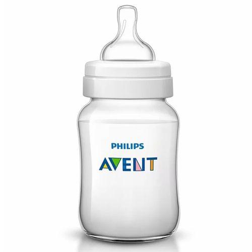 Mamadeira - Clássica Transparente - Anti Cólica - 330 ml - Philips Avent