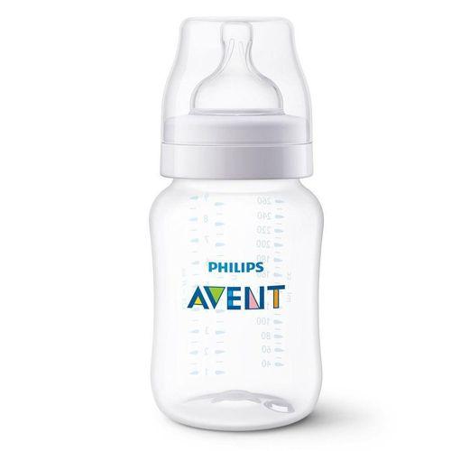 Mamadeira - Clássica Transparente - Anti Cólica - 260 ml - Philips Avent
