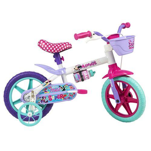 Bicicleta ARO 12 - Disney - Minnie Mouse - Branco - Caloi