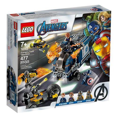 LEGO Super Heroes - Disney - Marvel - Vingadores - Ataque de Caminhão dos Vingadores - 76143