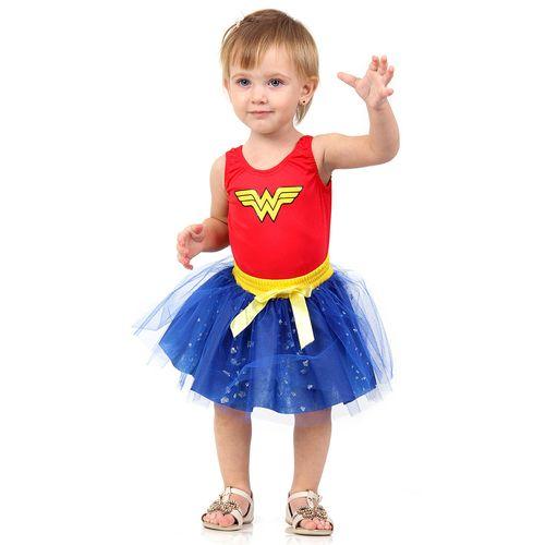 Fantasia Infantil - DC Comics - Liga da Justiça - Mulher Maravilha - Diana - Sulamericana - P