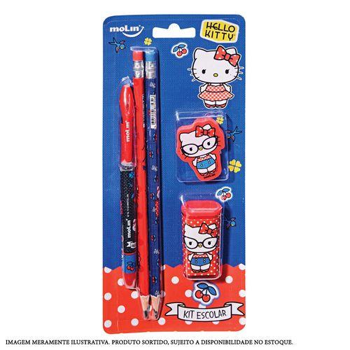 Conjunto Escolar - 5 Peças - Sortido - Hello Kitty - Molin