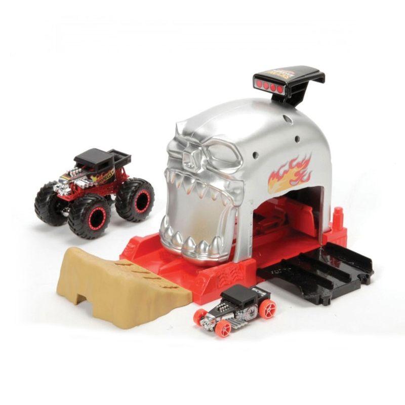 lancador-e-mini-veiculo-hot-wheels-monster-trucks-bone-shaker-mattel-GKY01_Frente