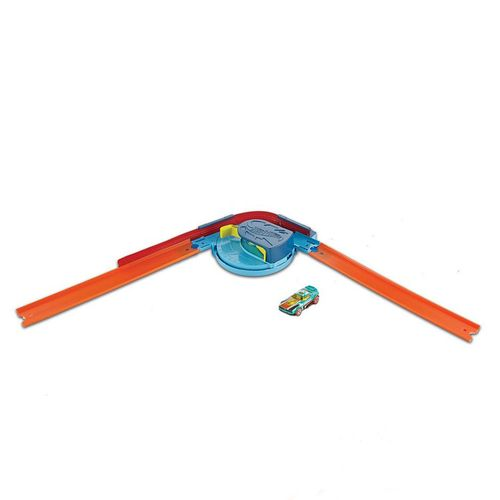 Pista de Percurso e Veículo - Hot Wheels - Track Builder - Curva - Mattel