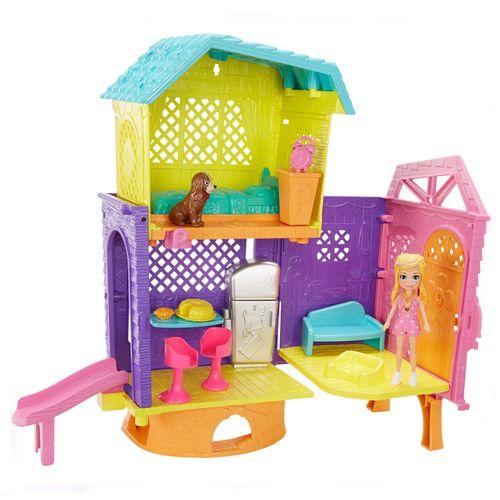 Playset e Mini Boneca - 25 Cm - Polly Pocket - Club House da Polly - Espaços Secretos - Mattel